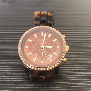 Michael Kors Tortoise Crystal Watch